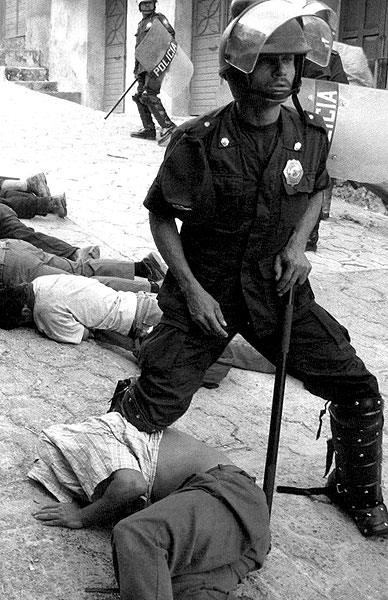 Episodios de violencia en Tila © Revista Contralinea