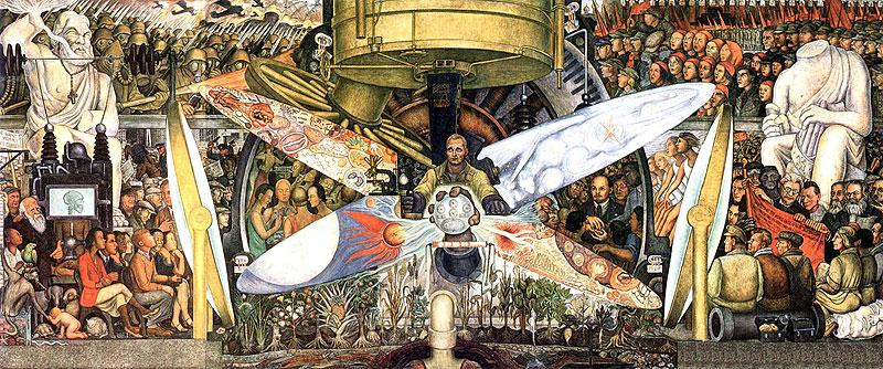 """""""Hombre en la encrucijada"""", mural de Diego Rivera"""