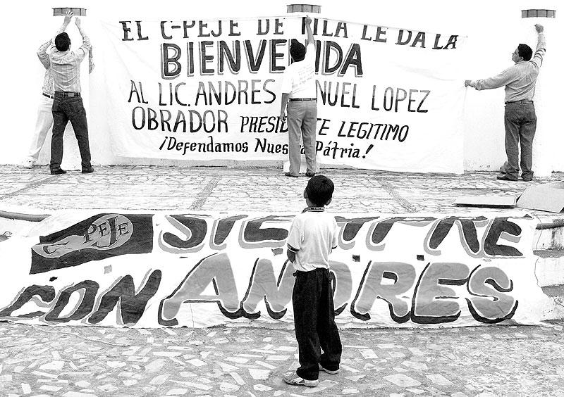 Recepción a López Obrador en Tila, Chiapas © SIPAZ - Jon Izaguirre