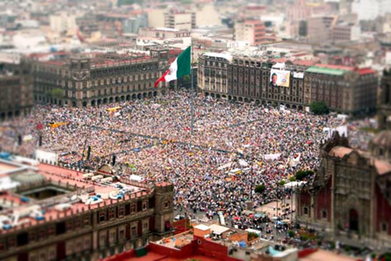 Concentration of AMLO in the Zocalo