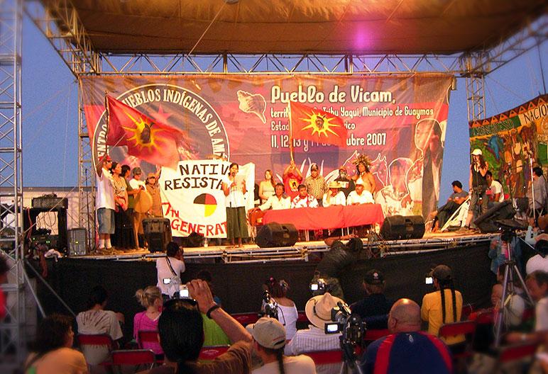 Encuentro de los Pueblos de América, Vicam, Sonora © SIPAZ
