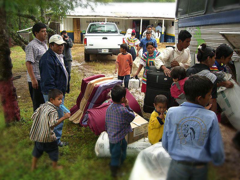 Familias desalojadas de Montes Azules © SIPAZ