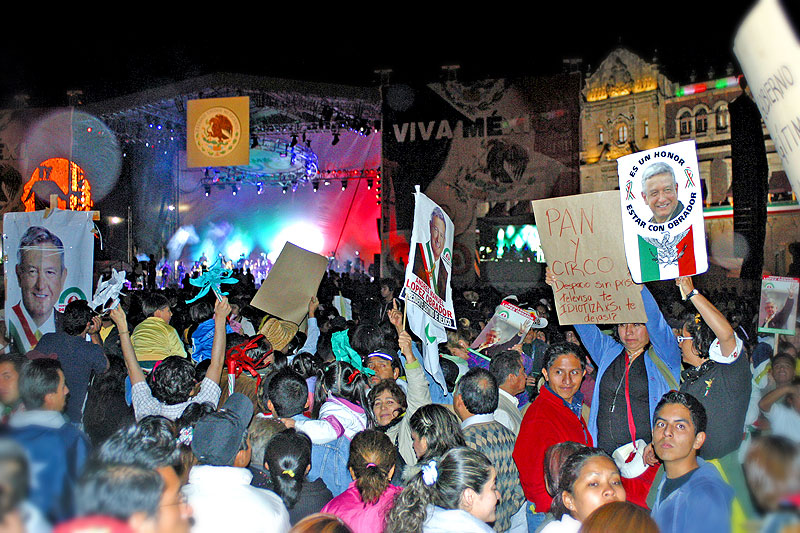 Día de la Independencia en el Zócalo de la Ciudad de México © Noé Pineda Arredondo