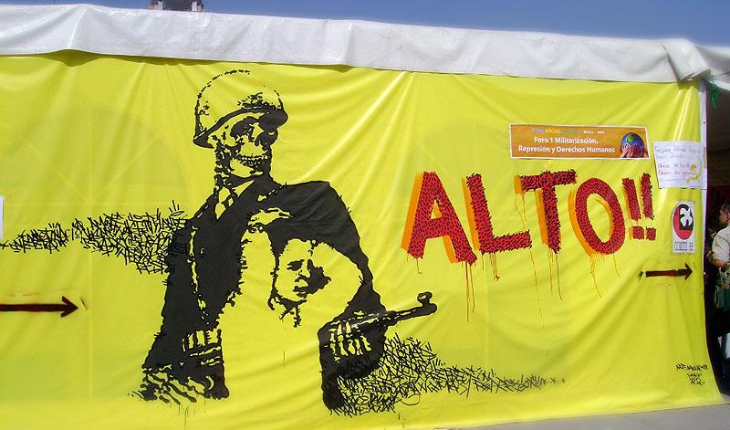 World Social Forum 2008, Mexico- Militarization