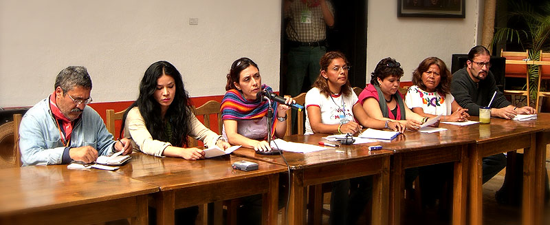 Press Conference of Solidarity Caravan - The Other Campaign