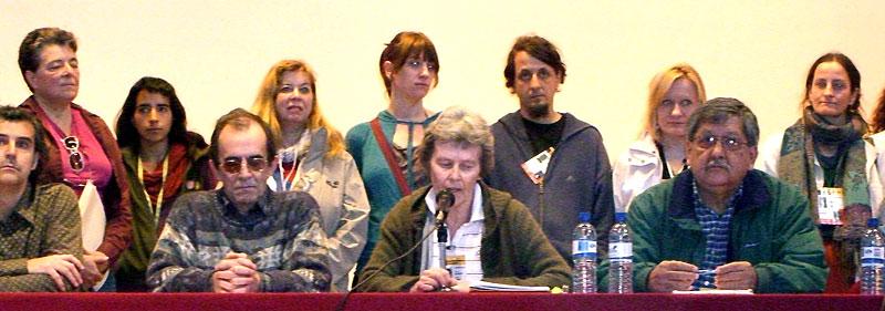 CCIODH Press Conference in San Cristóbal de Las Casas, February 3, 2008