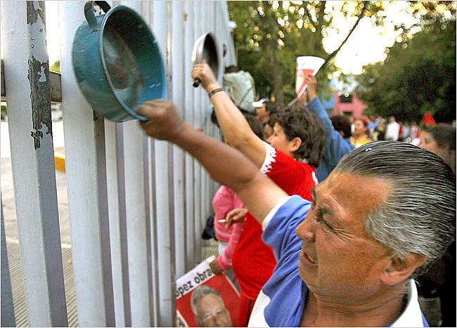 Ciudadanos mexicanos protestan contra los altos precios del maíz