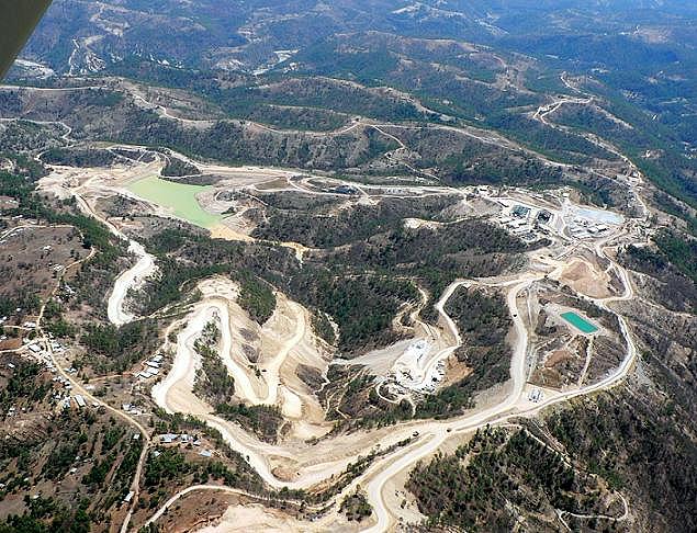 Mina Marlin, mina de cielo abierto en Guatemala (Fuente: NO A LA MINA)