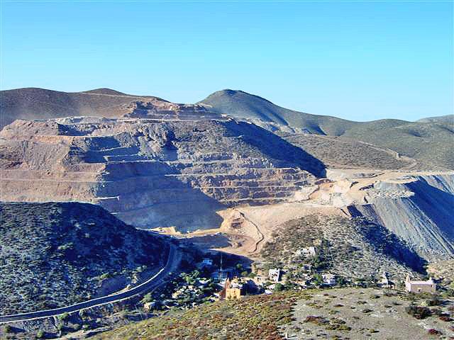 Cerro San Pedro, mina de cielo abierto en el estado de San Luis Potosí © NO A LA MINA