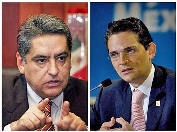 José Luis Santiago Vasconcelos y Juan Camilo Mouriño, fallecidos en el accidente aéreo del 4 de Noviembre