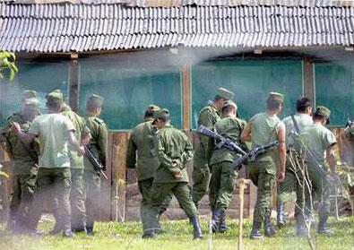 An Antinarco operation in a Chiapas community© Frayba (Yorail Maya)