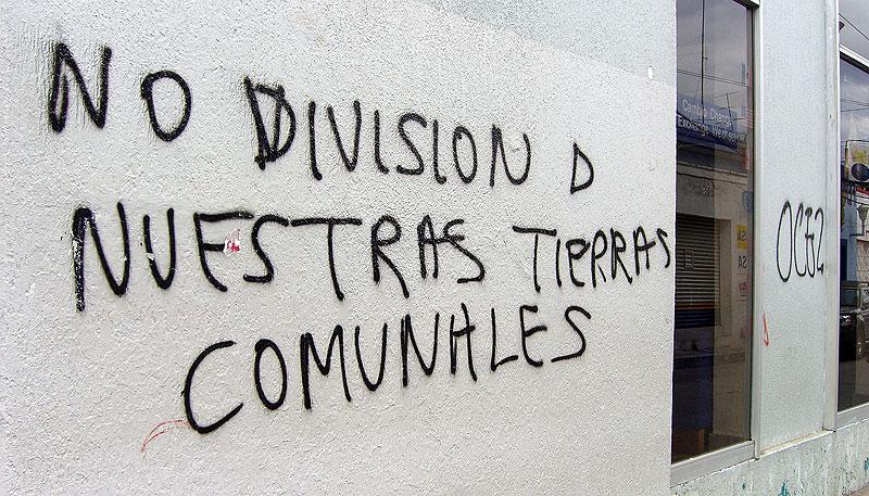 Graffiti de la OCEZ-RC en paredes de San Cristóbal de Las Casas © SIPAZ