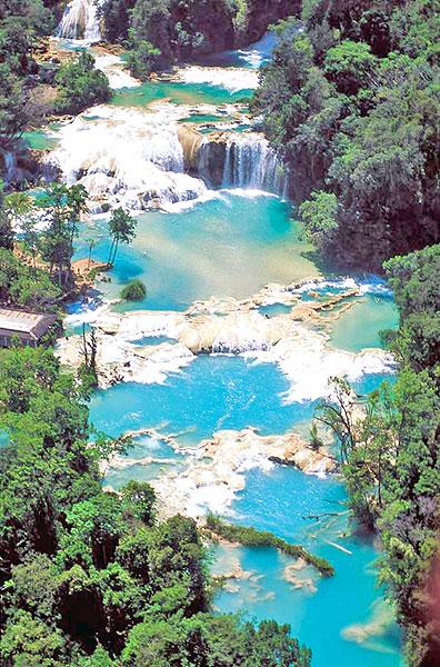 Cascadas de Agua Azul © Secretaría del Turismo de Chiapas