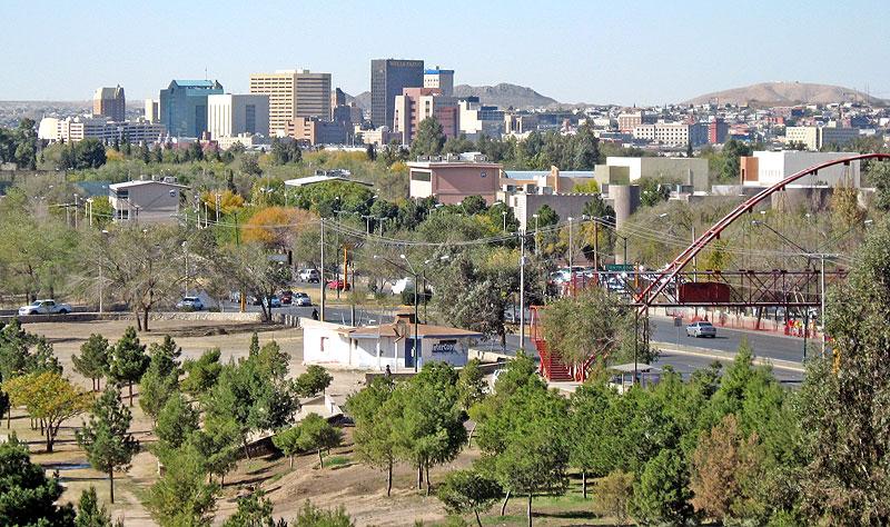 Vista del Paso (Texas) y Ciudad Juárez (México) © SIPAZ
