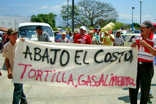 March of movement against high electricity-prices in Tonalá © Autonomous Regional Council of the Coastal Zone of Chiapas