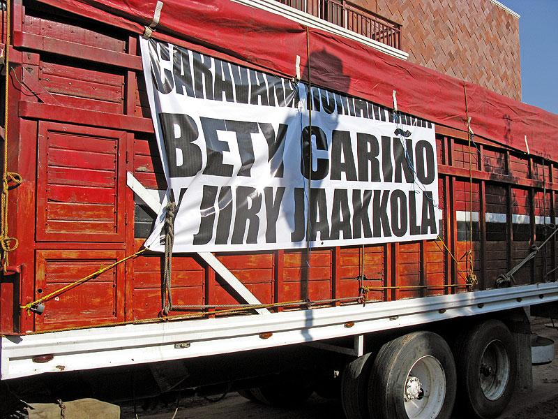 """""""Bety Cariño y Jyri Jaakkola"""" Caravan, 8 June"""