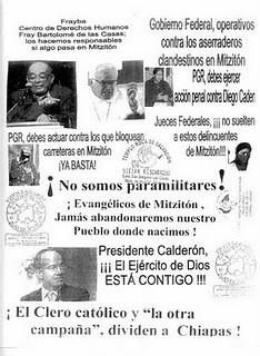 Flyer distributed during an evangelical demonstration © FrayBa