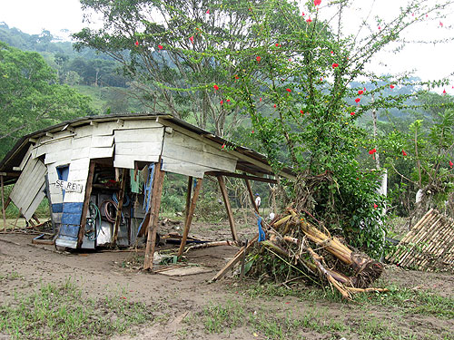Daños causados por Matthew, Yajalón, Chiapas, septiembre de 2010 © SIPAZ
