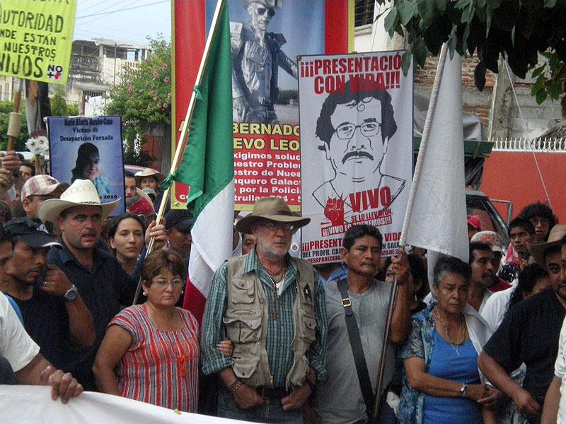 Javier Sicilia durante el recorrido en Chiapas de la Caravana al Sur, septiembre de 2011 © SIPAZ