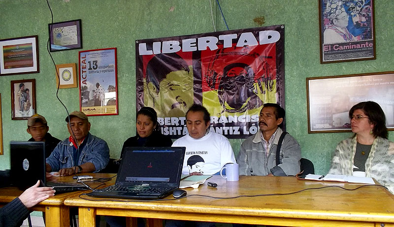 Press Conference on the Patishtán case, may 2012 © SIPAZ