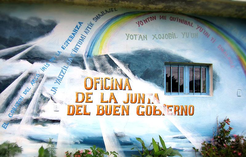 Oficina de la Junta del Buen Gobierno en el Caracol de Morelia © SIPAZ