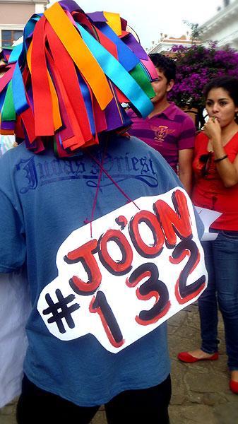 """Yo Soy #132"" en tsostil, manifestación en San Cristóbal de Las Casas © SIPAZ"
