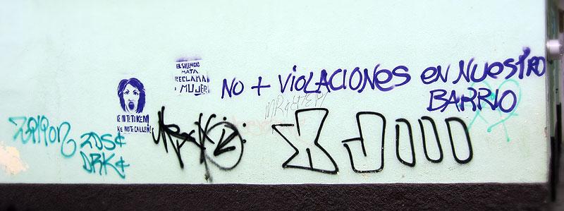 """No more rapes in our neighborhood,"" graffiti in San Cristobal de Las Casas © SIPAZ"