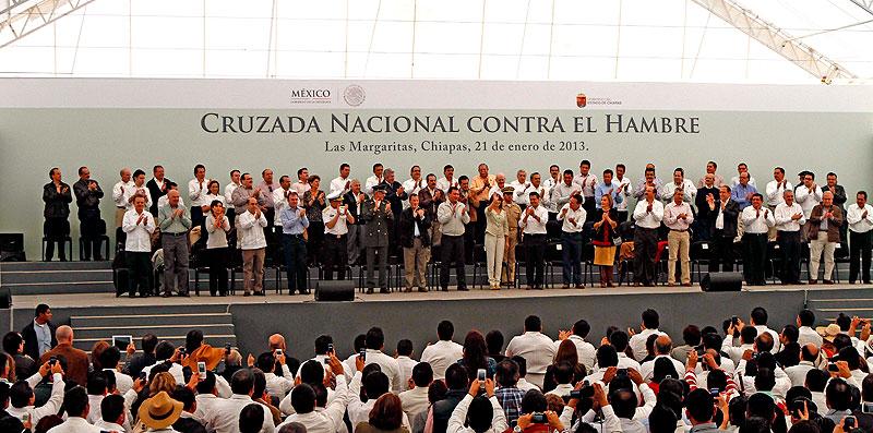 Launch of the National Crusade against Hunger, Chiapas ©  enlacenetoaxaca.com.mx