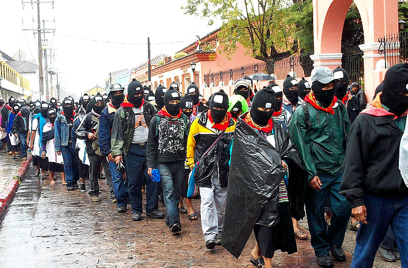 March of the EZLN In San Cristobal de las Casas, Chiapas, december 21, 2013 © SIPAZ