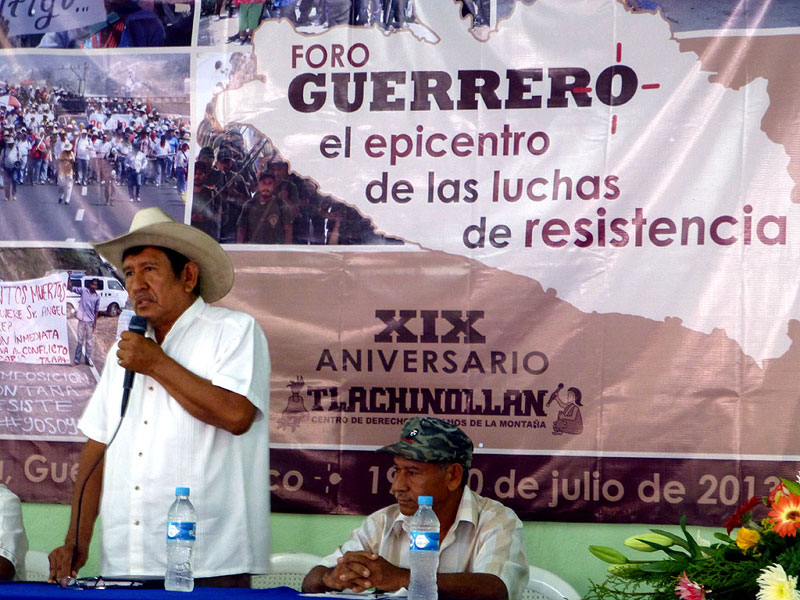 """XIX Anniversary of the Tlachinollan Mountain Center for Human Rights, 19-20 July 2013 - Forum """"Guerrero: epicenter of resistance struggles"""" © SIPAZ"""