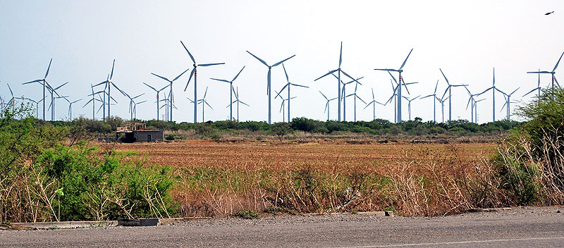 Wind-energy park in the region of La Ventosa, Oaxaca © Geolocation
