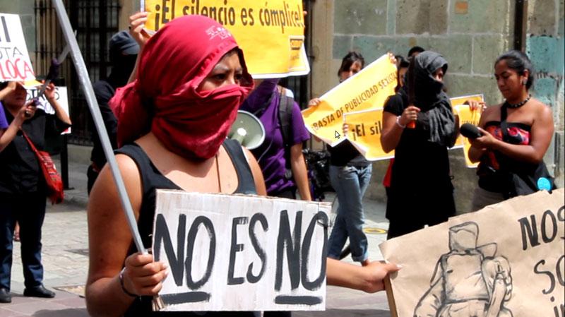 Women's march in Oaxaca, October 13 © Subversiones