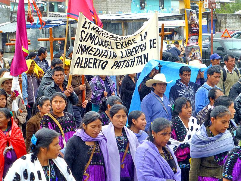 Pilgrimage of Pueblo Creyente for the release of Patishtán, San Cristóbal de las Casas, September 12 © SIPAZ