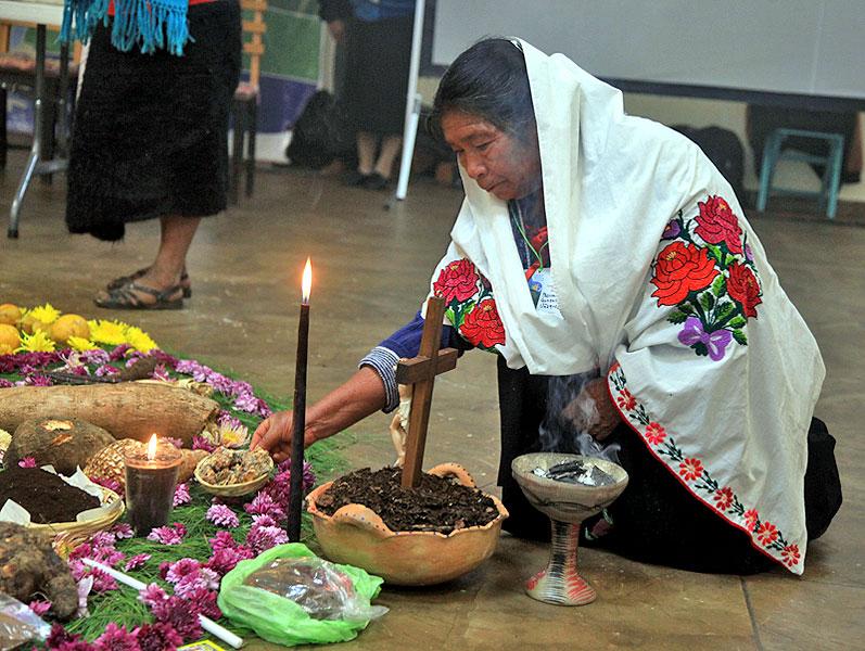 """Beim Kongress des Bistums zu """"Mutter Erde"""", Januar 2014 © Diözese San Cristóbal de Las Casas"""