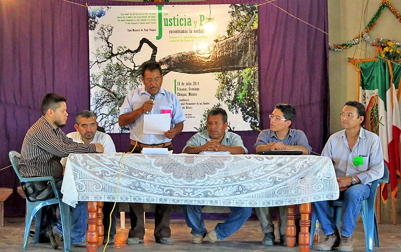 Preaudience of the Peoples' Permanent Tribunal (TPP) in El Limonar, Ocosingo municipality, July 2014 © SIPAZ