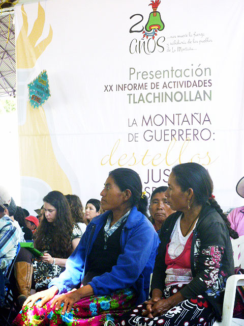 """Forum """"From the communal heart of resistance,"""" Tlachinollan anniversary, July 2014 © SIPAZ"""