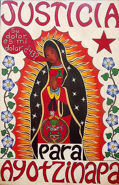"""Mural Justicia para Ayotzinapa """"su dolor es mi dolor"""" © SIPAZ"""