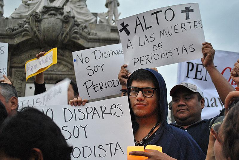 """No more killings of journalists"" © derechosdigitales.org"