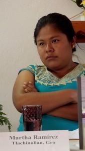 Martha Ramírez Galeana, member of the Human Rights Center of the Mountain, Tlachinollan © SIPAZ