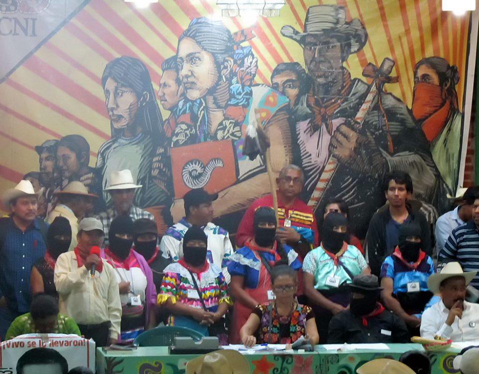 Asamblea Constitutiva del Concejo Indígena de Gobierno para México, San Cristóbal de Las Casas, mayo de 2017 © SIPAZ