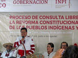 Adelfo Regino, Director general del Instituto Nacional de los Pueblos Indígenas © SIPAZ