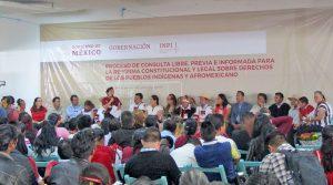 Processus de consultation au sujet de la Réforme Constitutionnelle et Légale pour les Droits des Peuples Autochtones et Afro-mexicains, San Cristóbal de Las Casas, Chiapas, juillet 2018 © SIPAZ