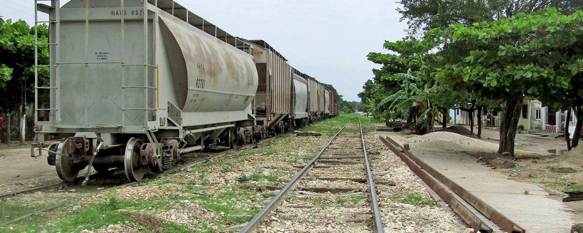 L'état des lignes ferroviaires de Palenque (Chiapas) actuellement © SIPAZ